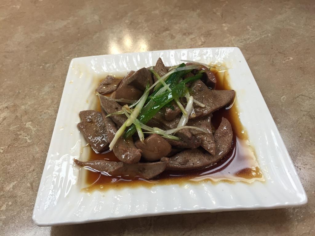 blanched pork liver