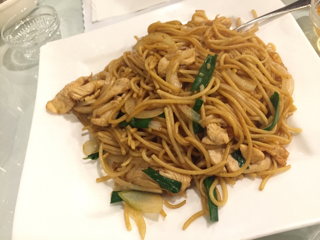 Pan Fried Chicken Noodles