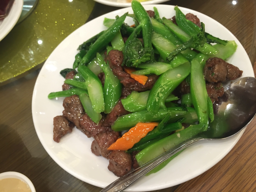 gai lan beef stir fry