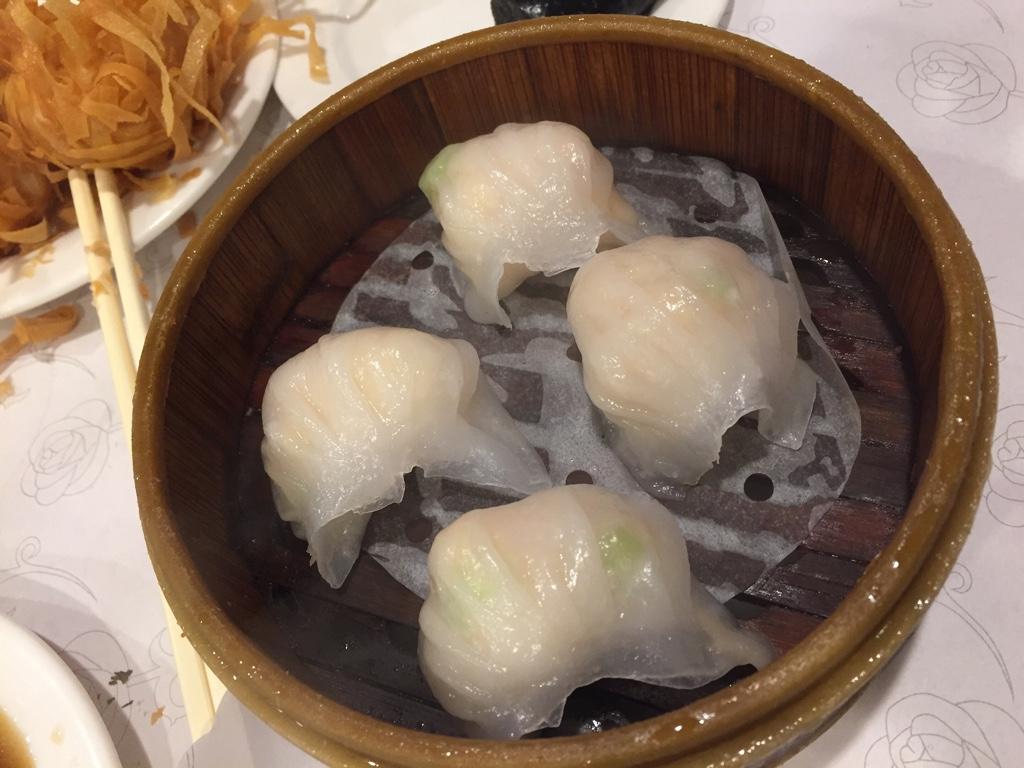 shrimp dumplings (har gow)