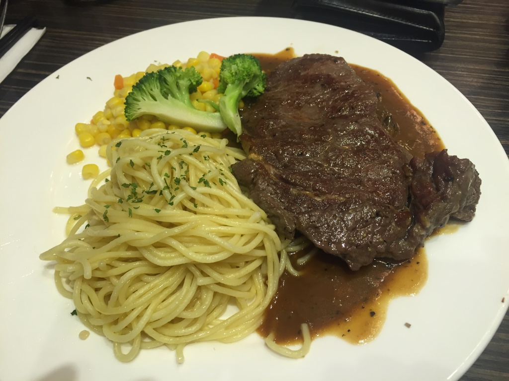 Steak and Spaghetti