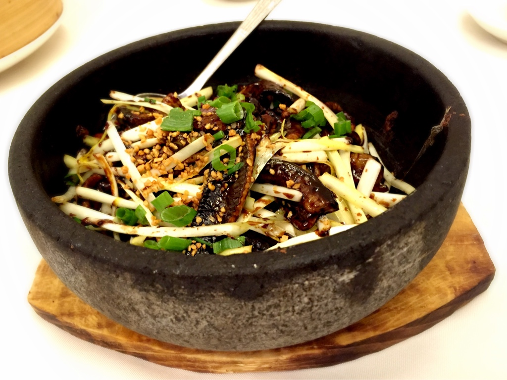 Fried Eel in Stone Bowl