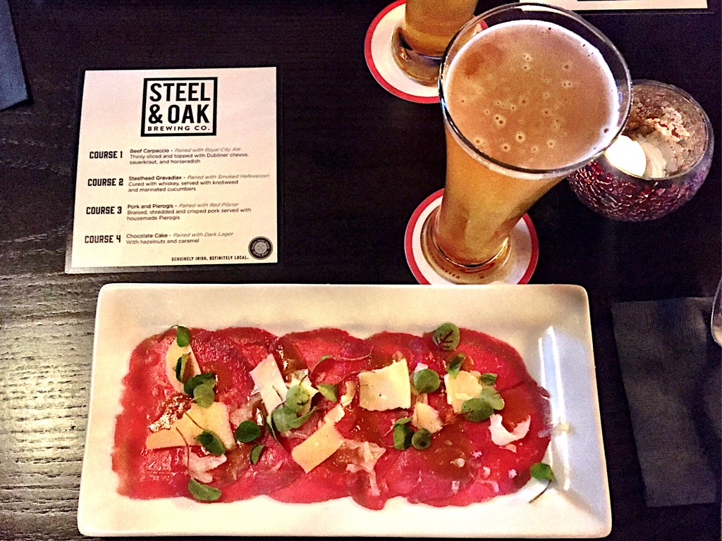 Beef Carpaccio & Royal City Ale