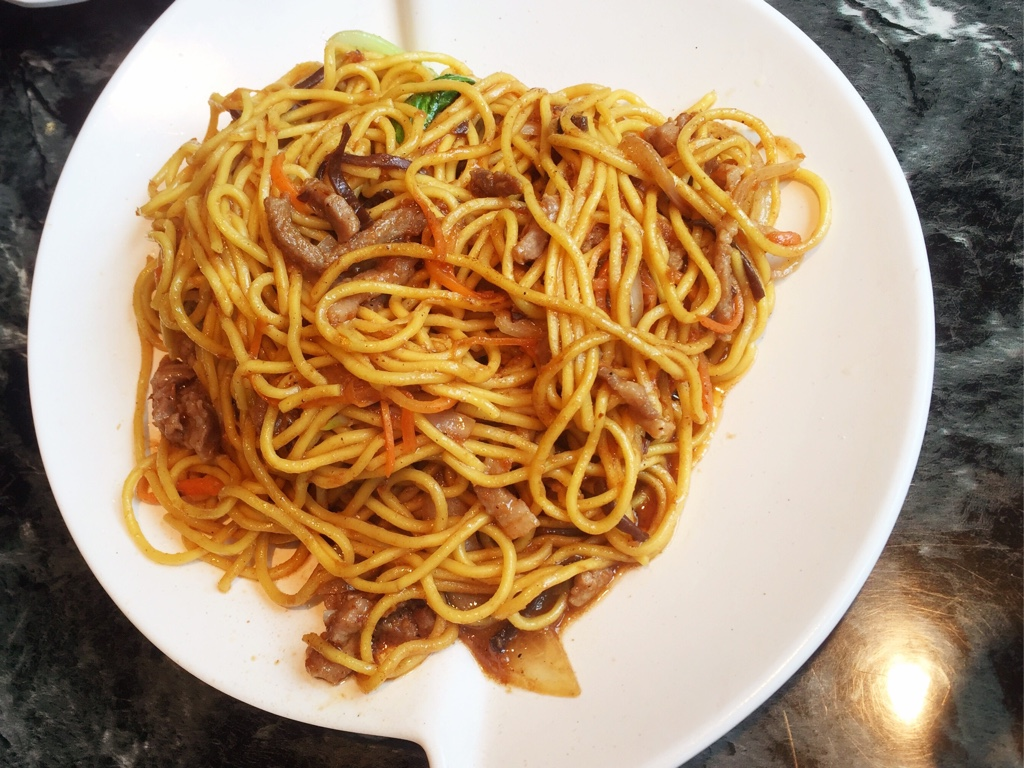 Satay Pork Pan Fried Noodles