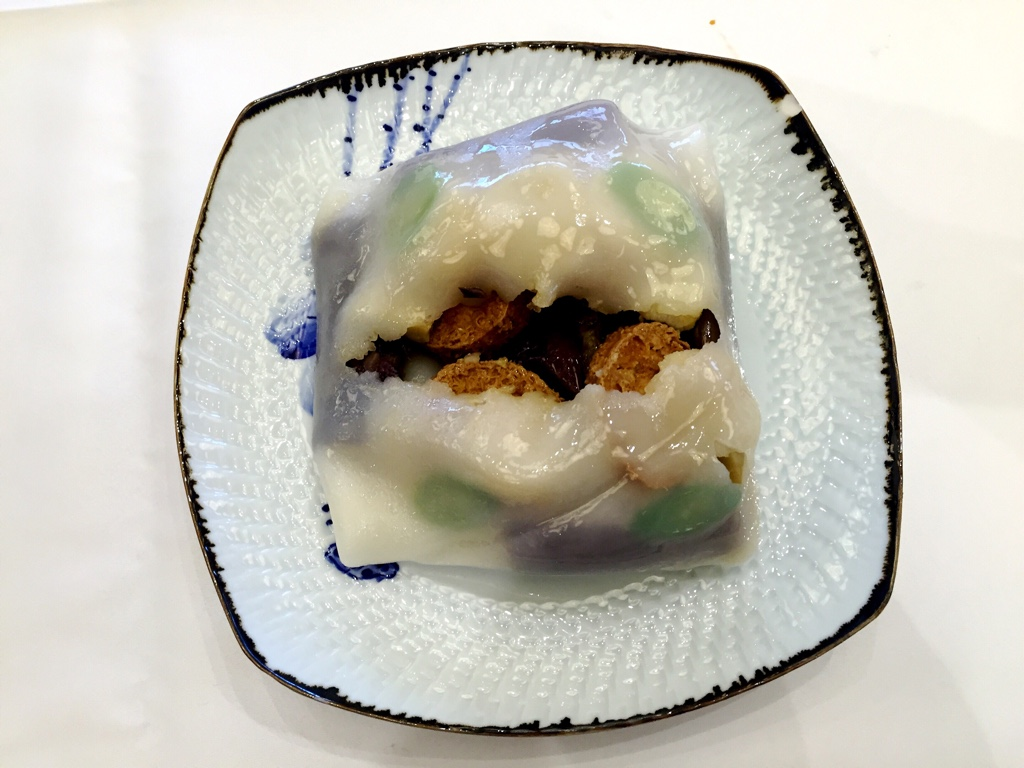 Special Rice Noodle Roll with Scallop, Tofu and Eggplant