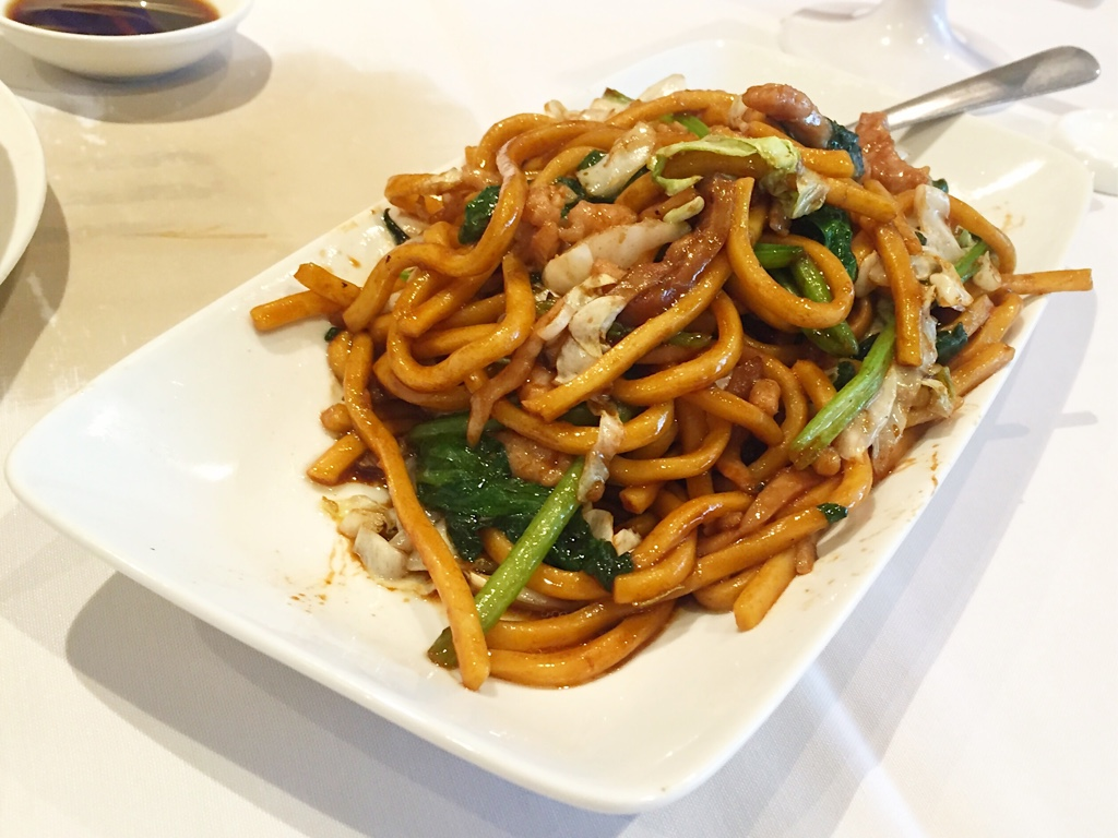 Shanghai style pan fried noodles