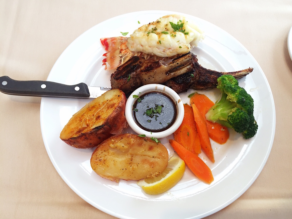 Lamb Chop and Lobster Tail