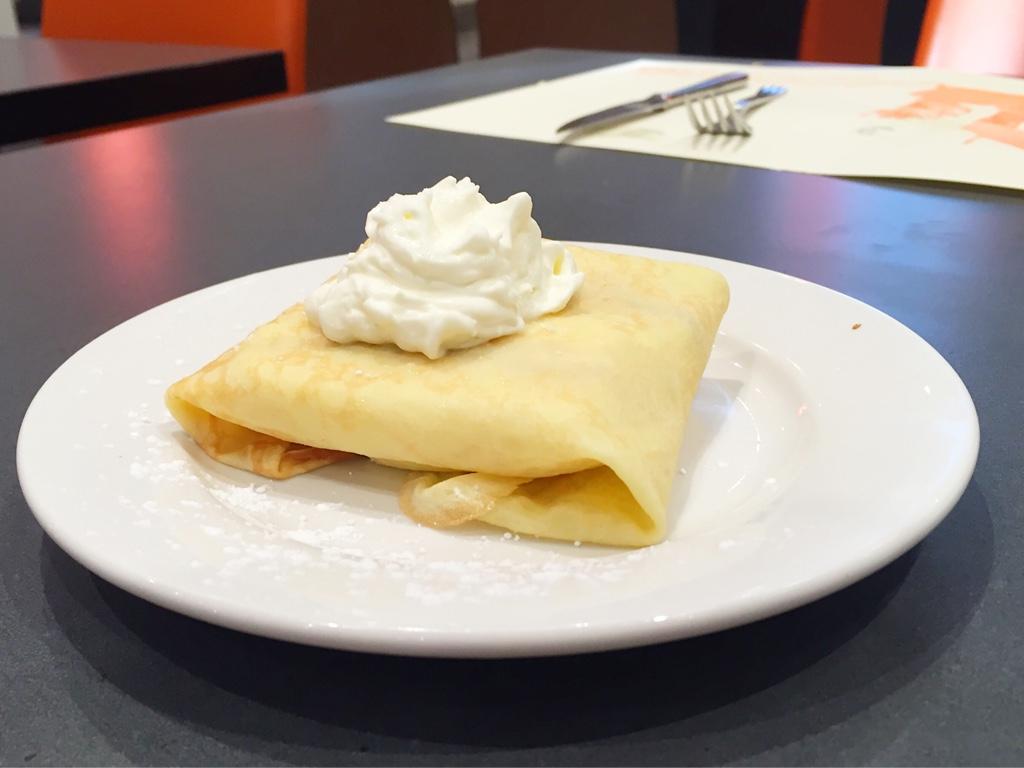 Banana-Filled Dessert Crepe