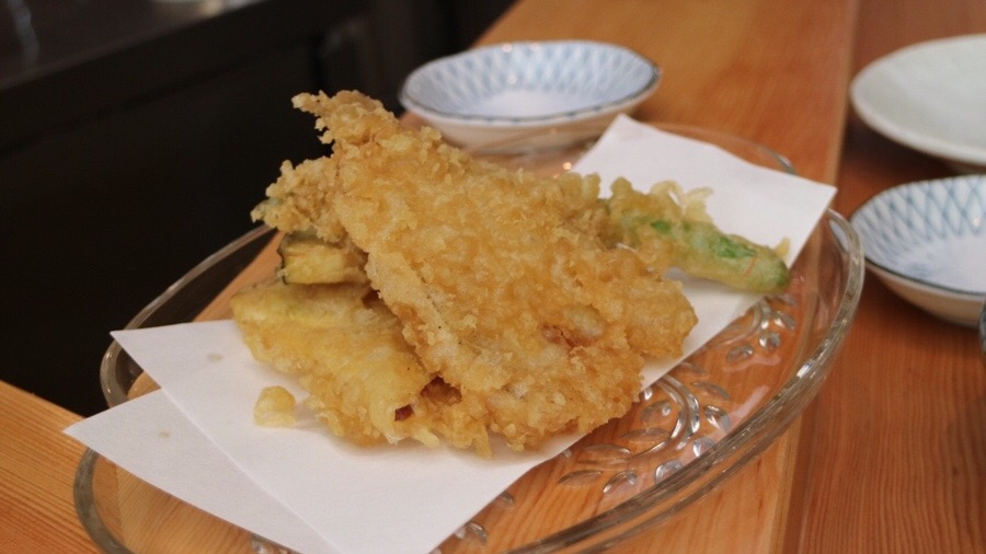 Kisu Tempura (Vegetable and Fresh Whiting)