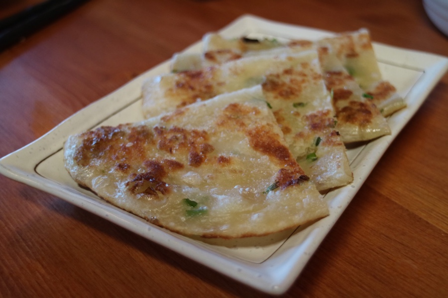 green onion crepe