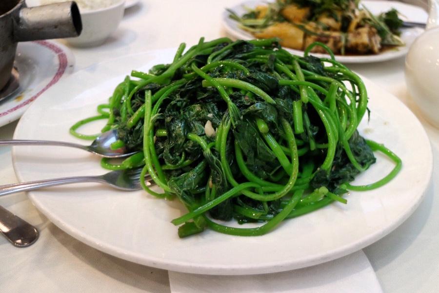 Yam Leaf Stir Fry with Garlic