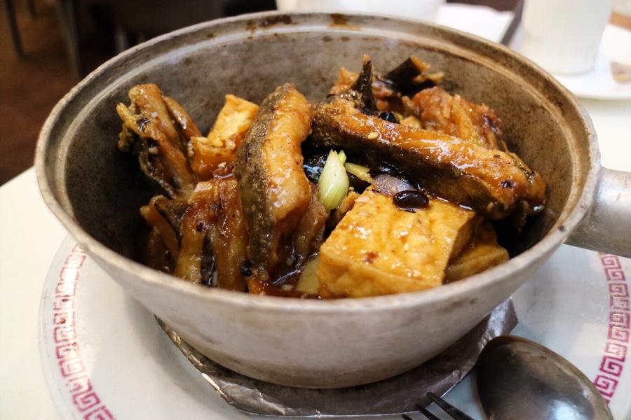 Black Cod Collar Hot Pot with Tofu and Black Bean Sauce