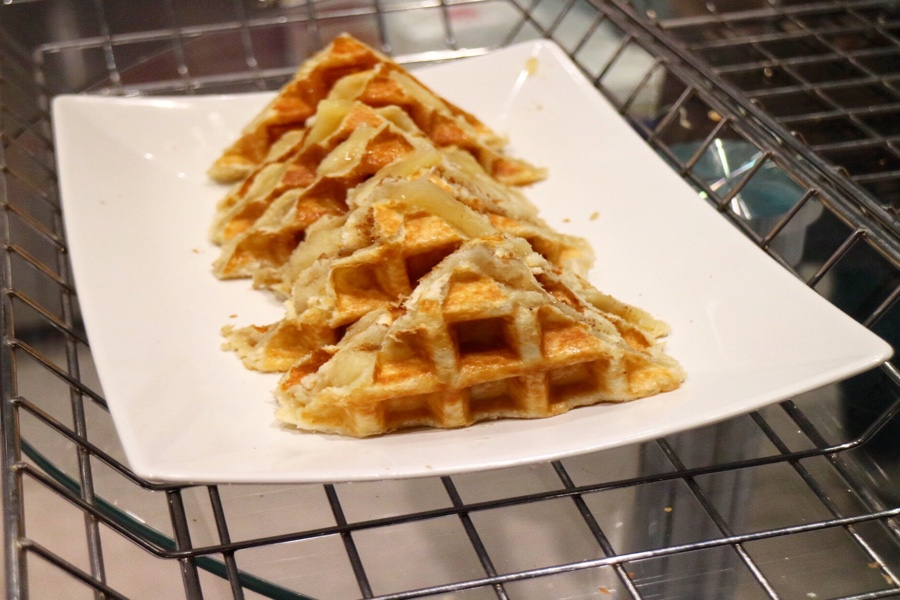 Apple Cinnamon Stuffed Waffle