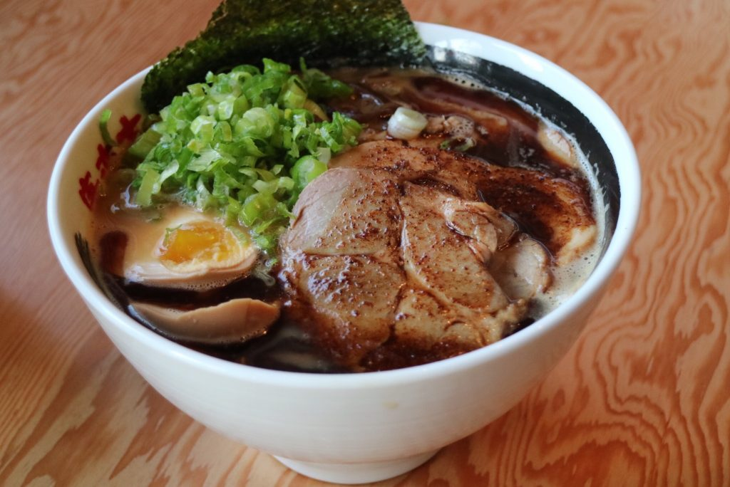 Black Garlicky Ramen