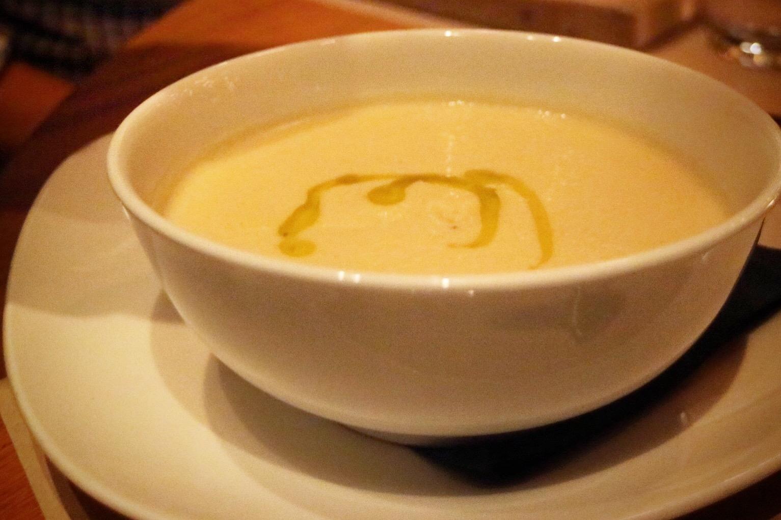 """truffle cauliflower soup"""