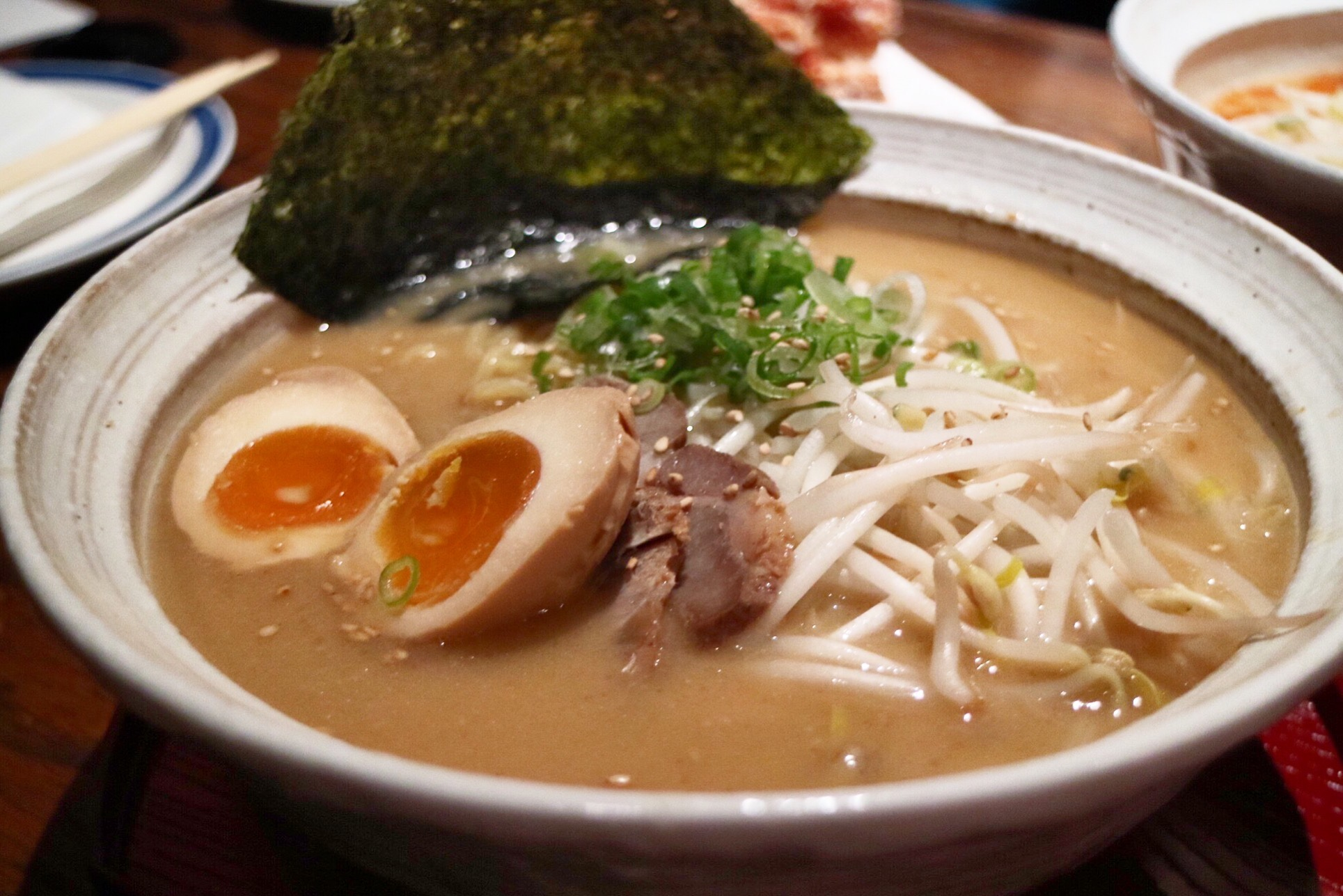 miso ramen with ajitama