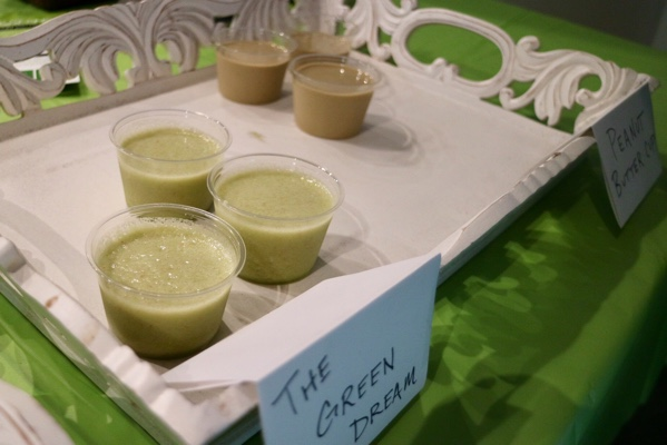 """Green Dream"" and ""Peanut Butter Cup"" Smoothies"