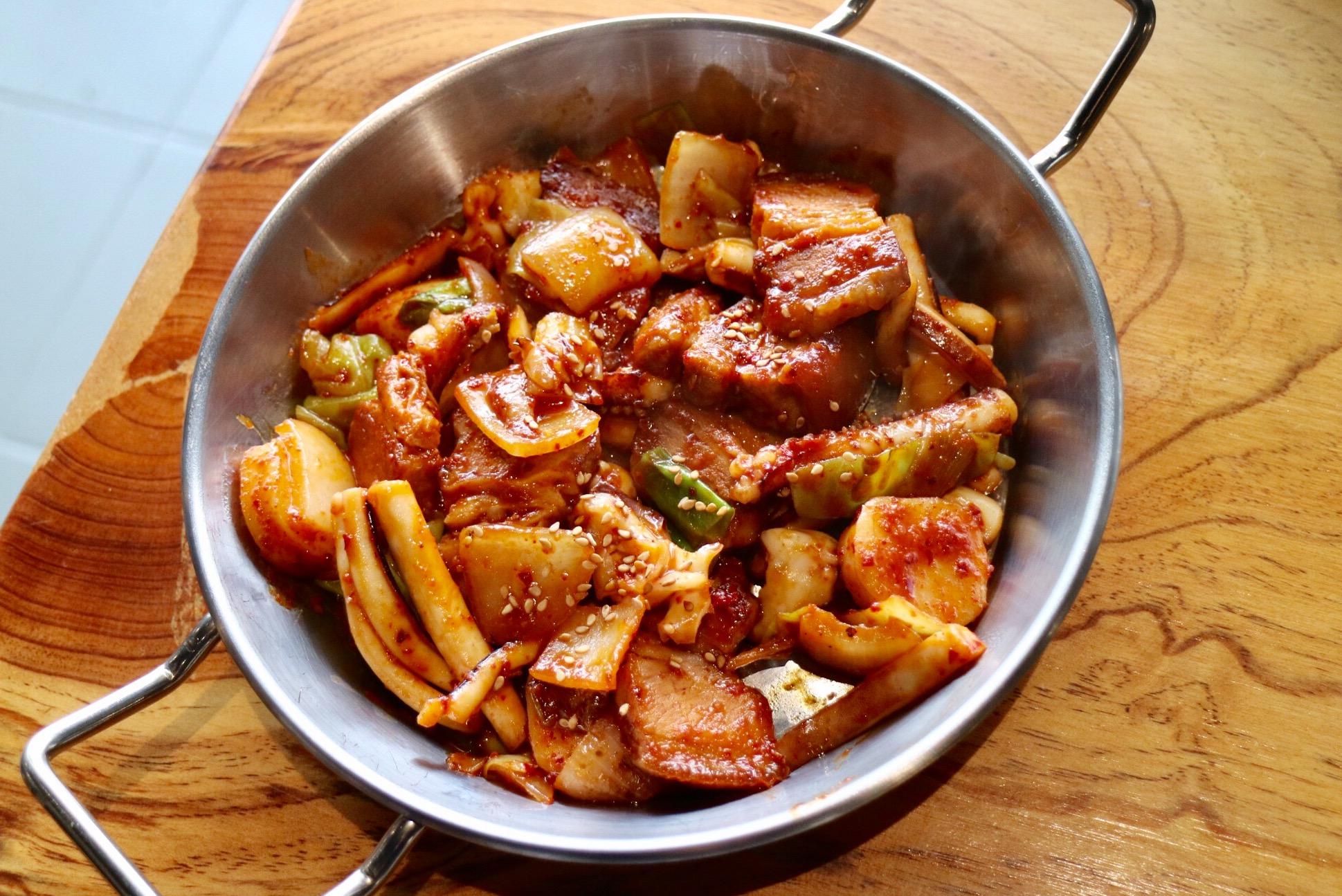 spicy pork belly & squid