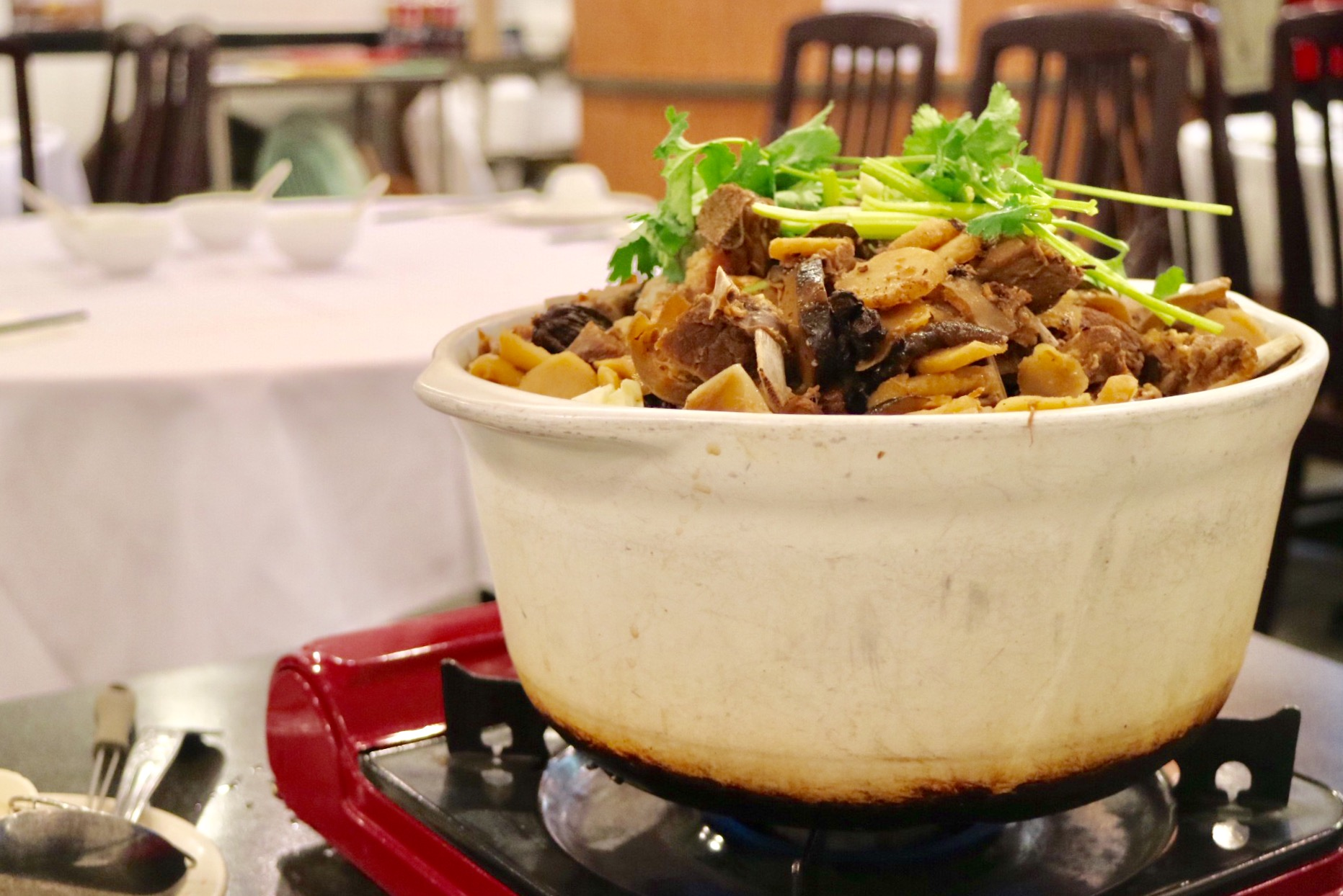 lamb brisket pot at Wing Kee