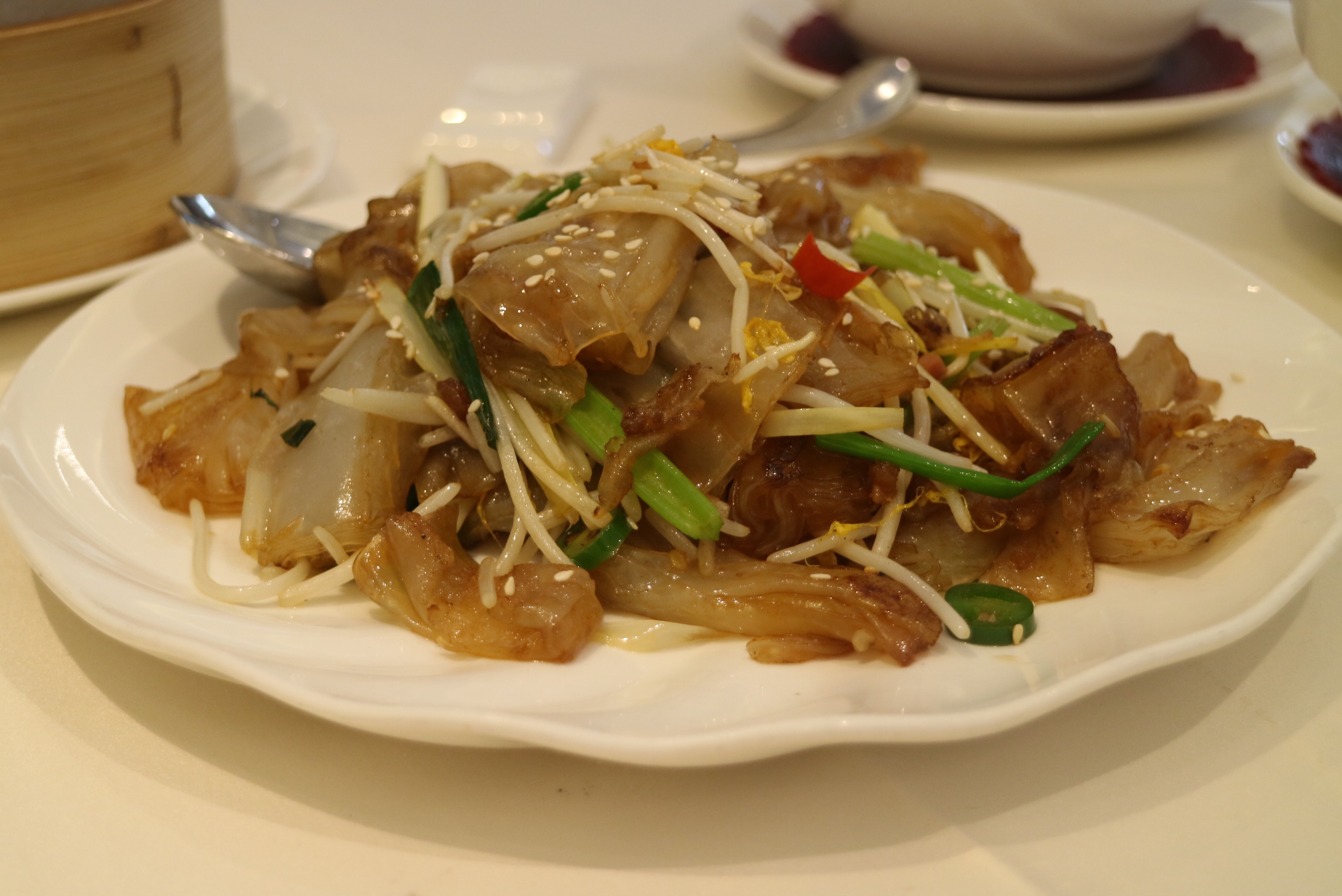 """Chen Village"" Rice Noodles with XO Sauce"