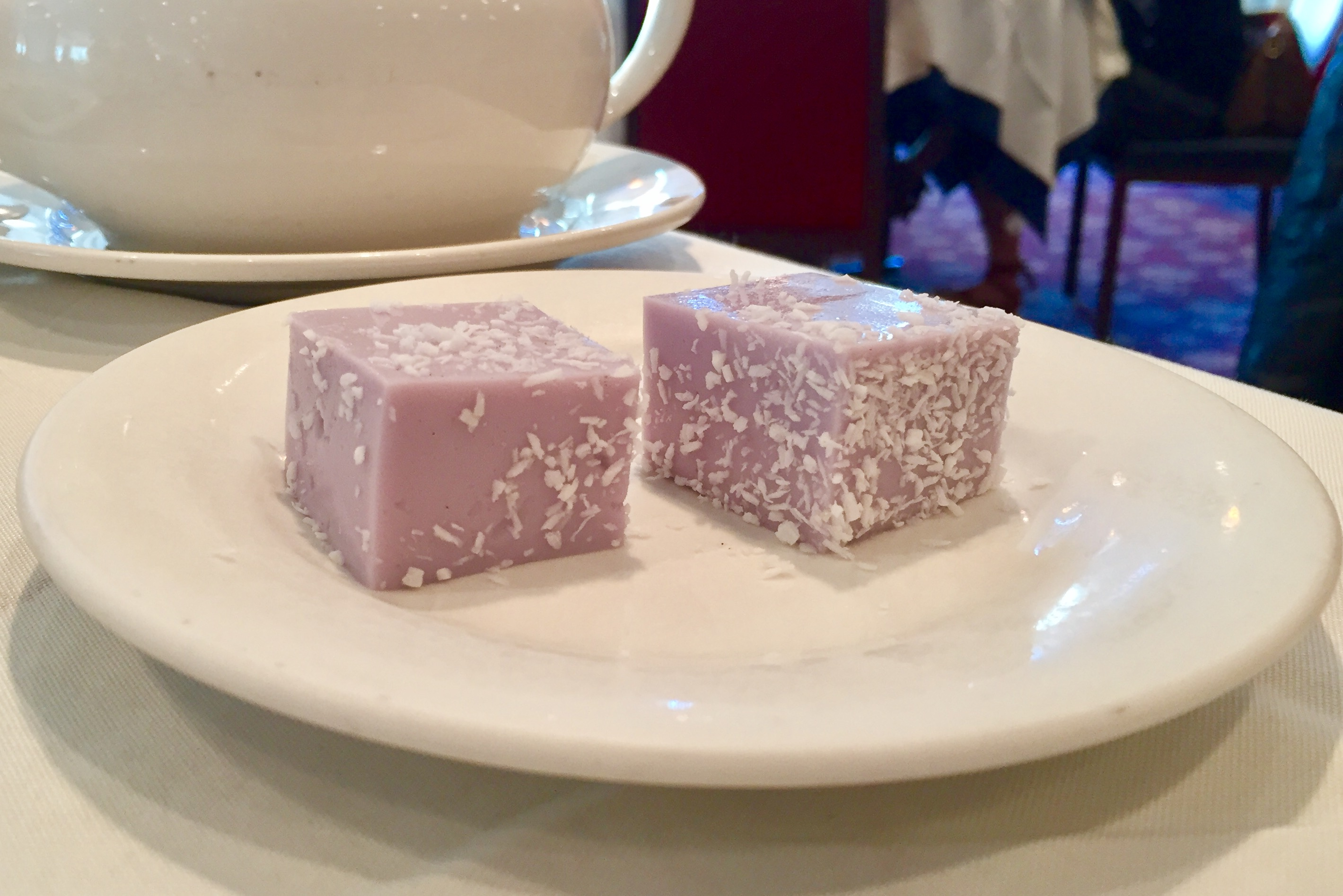 Taro and Coconut Pudding