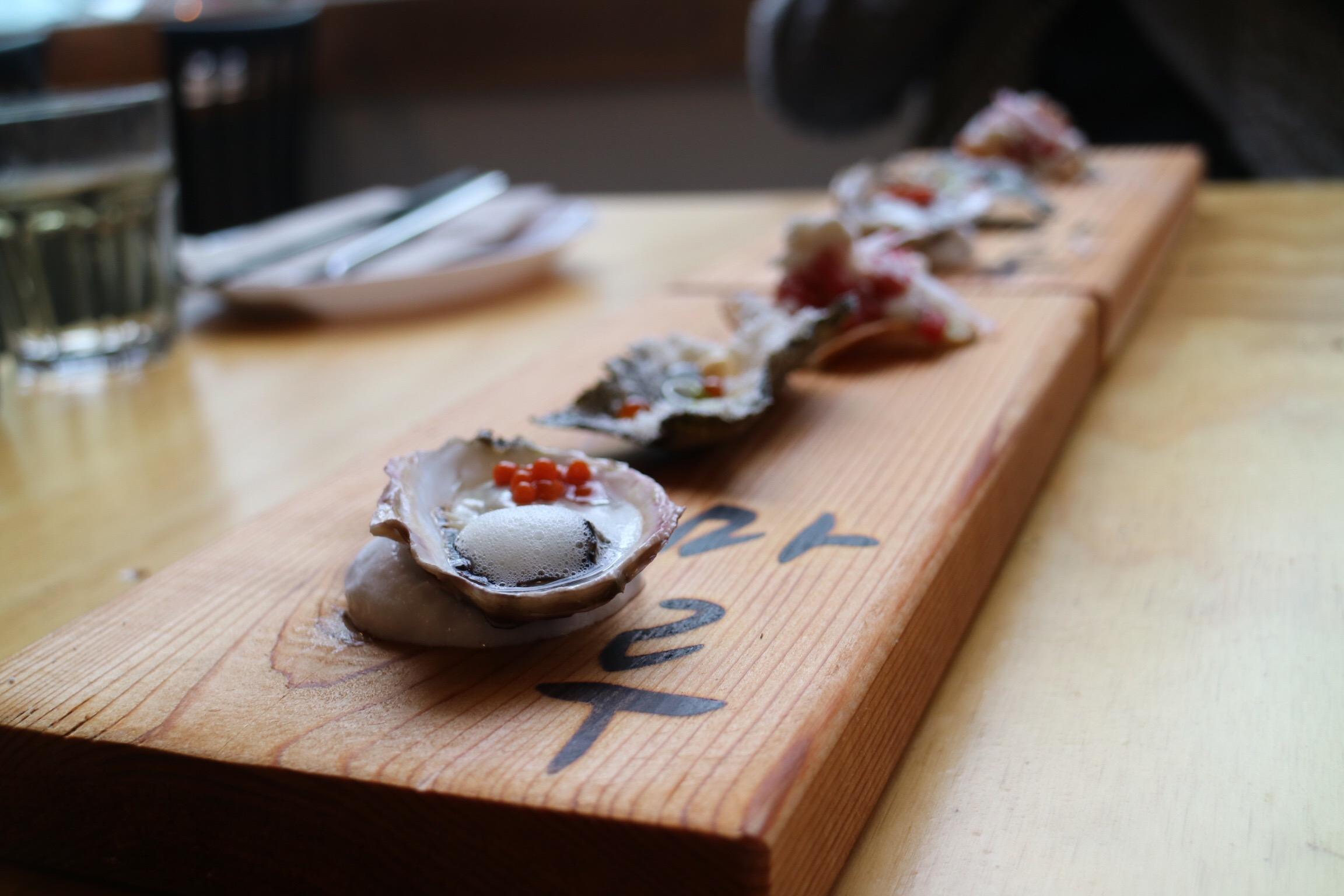 Shucked BC Oyster - Maru Korean Bistro