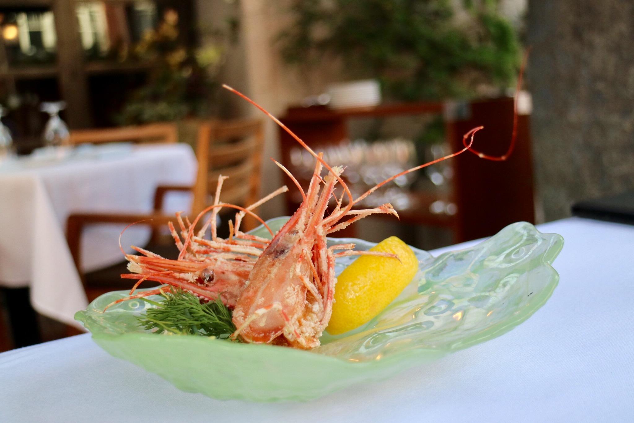 fried prawn heads