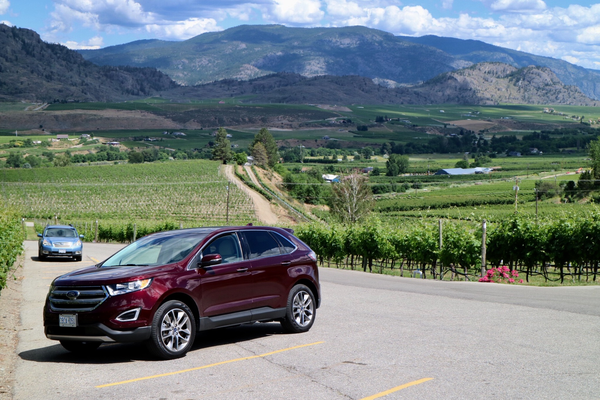ford road trip and wine tasting in okanagan