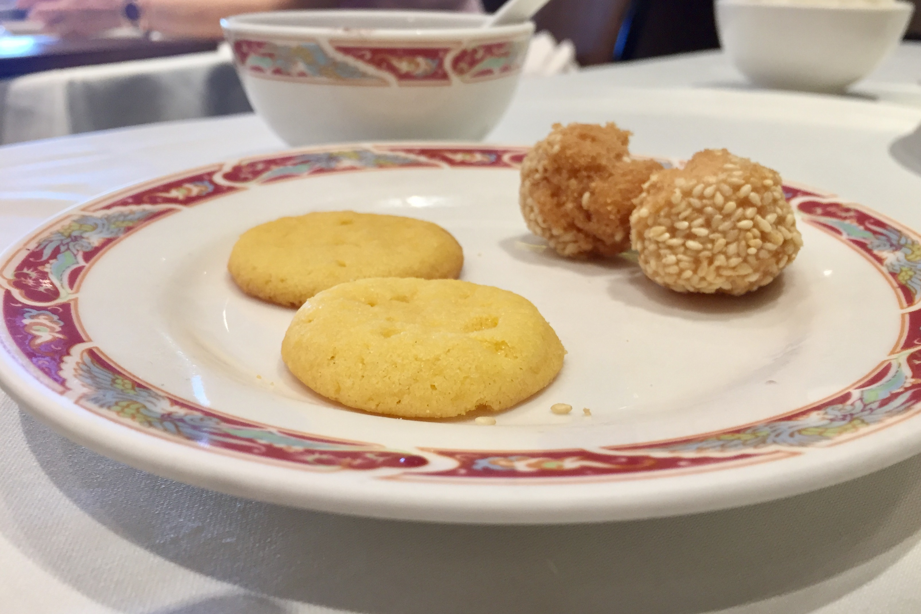 almond cookies and sesame balls