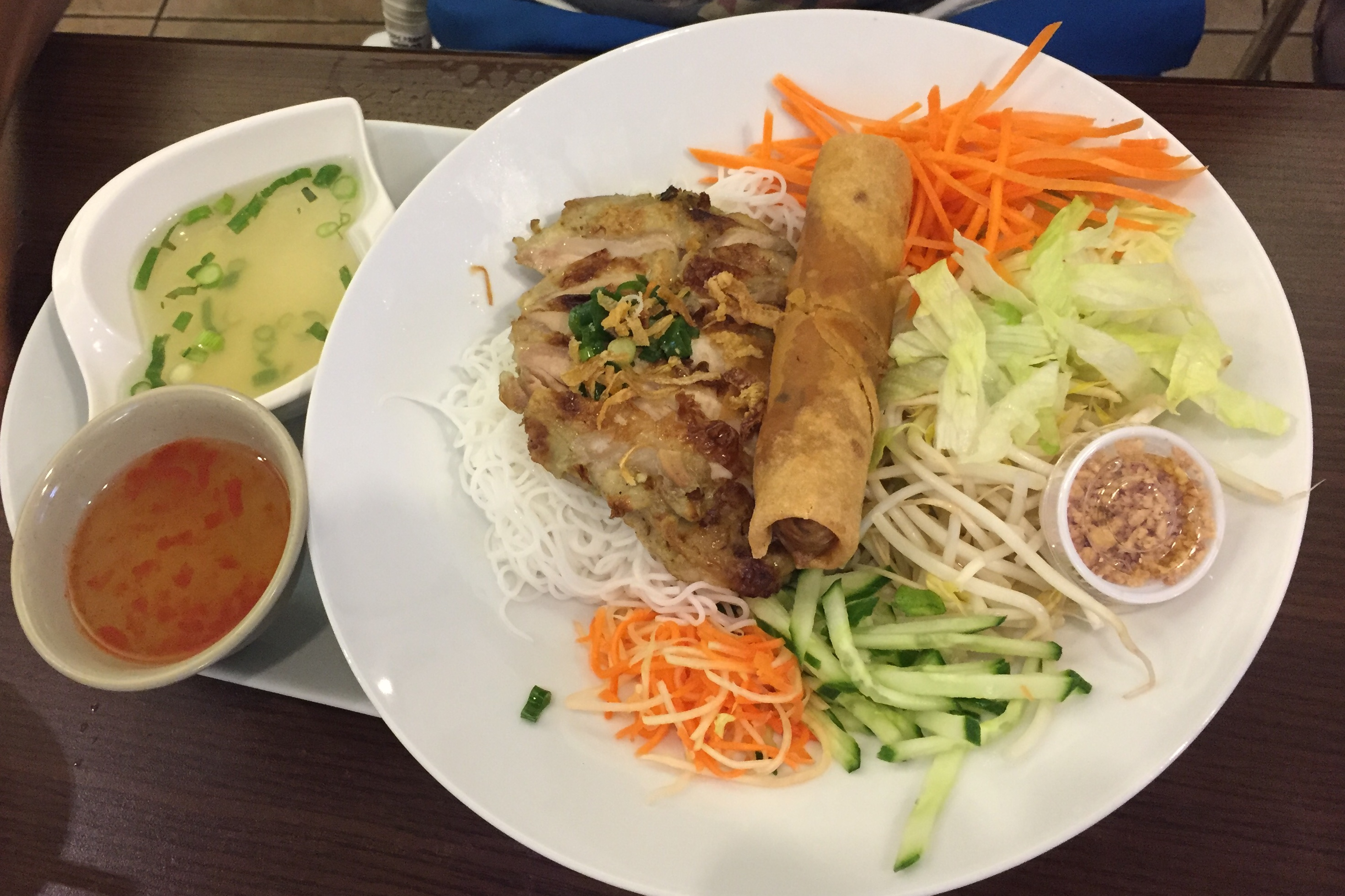lemongrass chicken on vermicelli