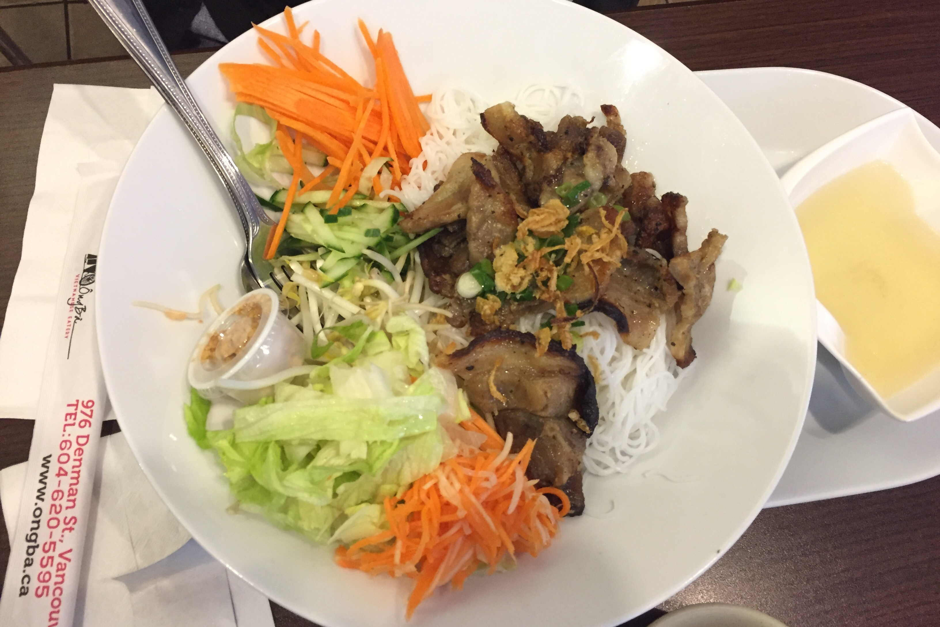 lemongrass pork on vermicelli