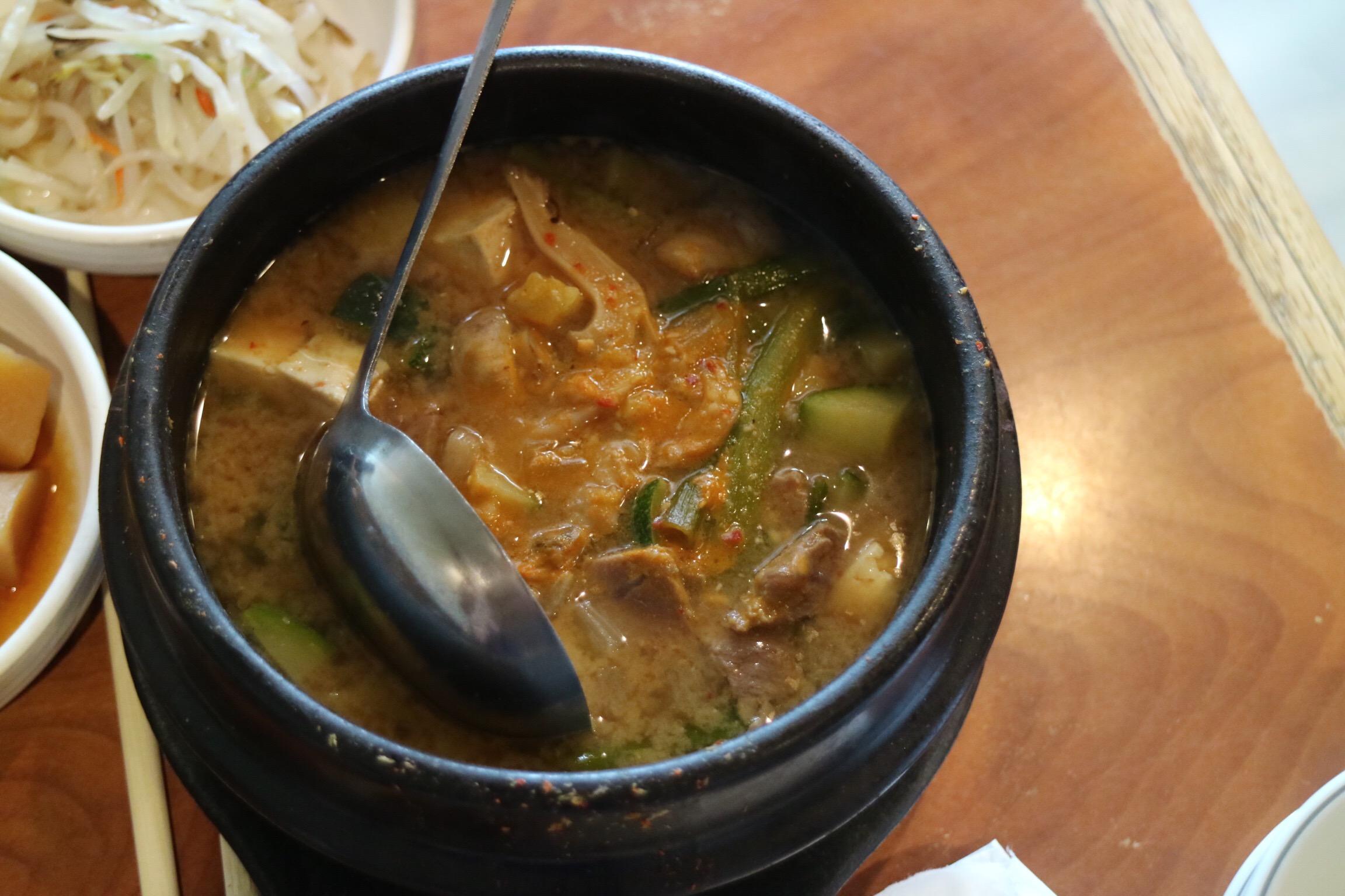 tofu and pork hot pot