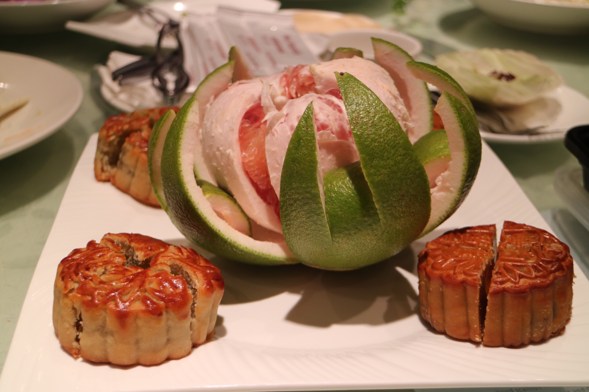 Mooncake and Pomelo