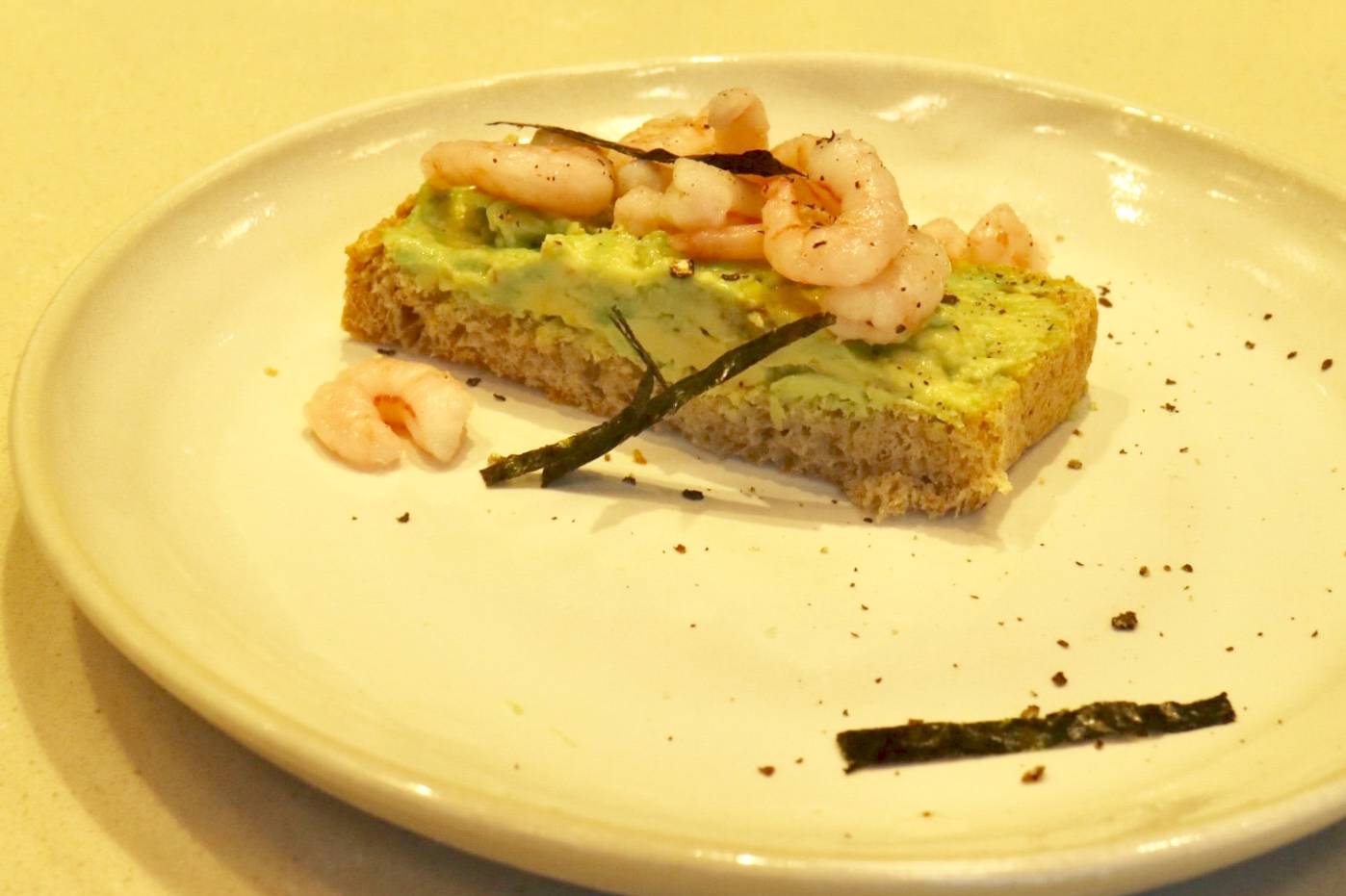 Shrimp Avocado Toast