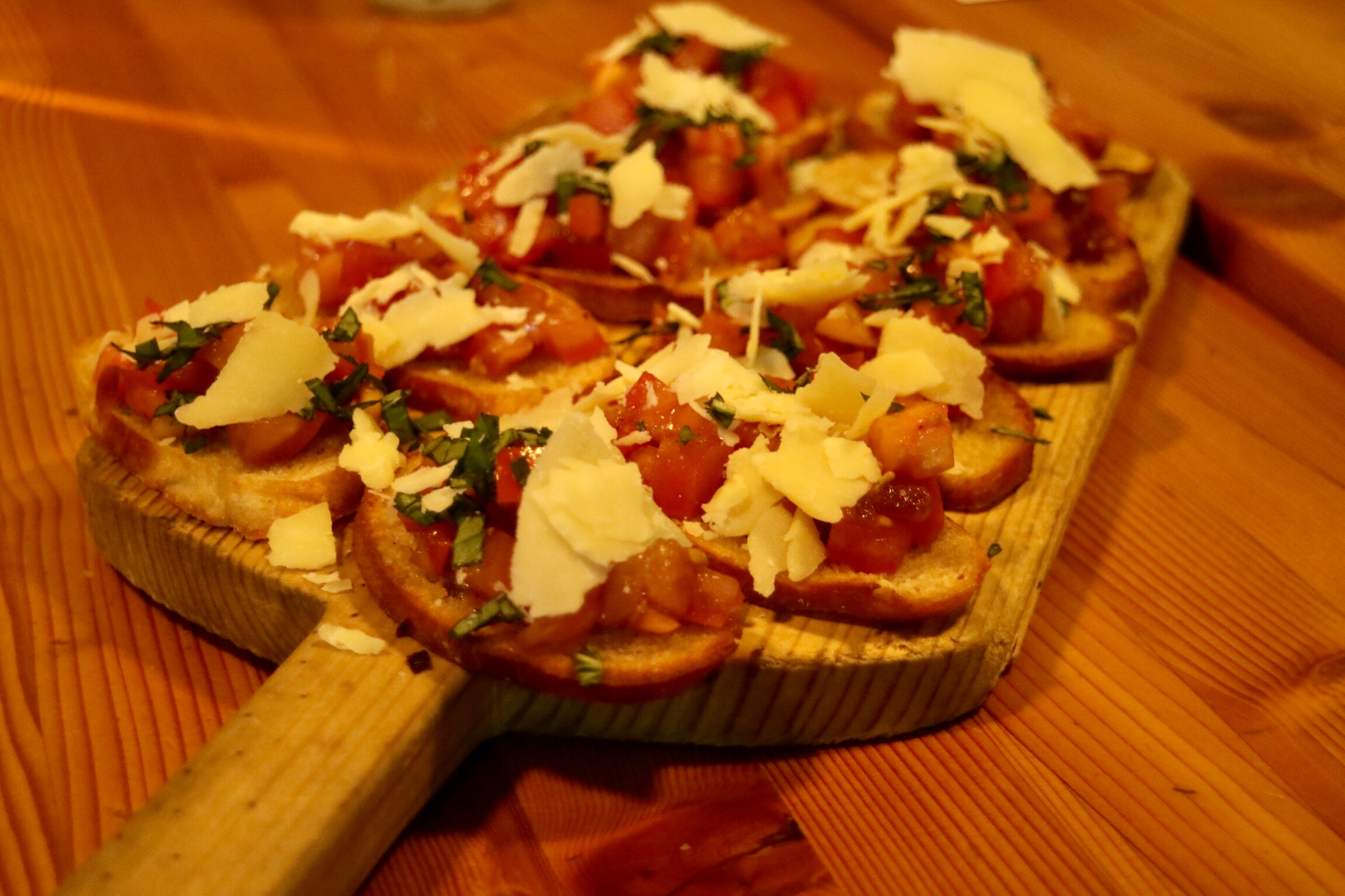 "bruschetta with ""cau"" cheese"