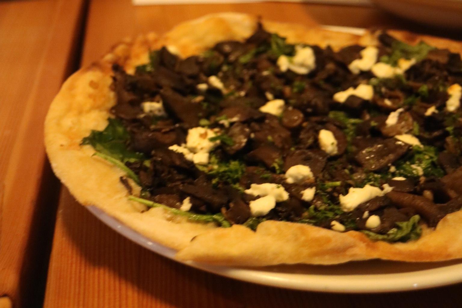 Vegan Wild Mushroom Pizza