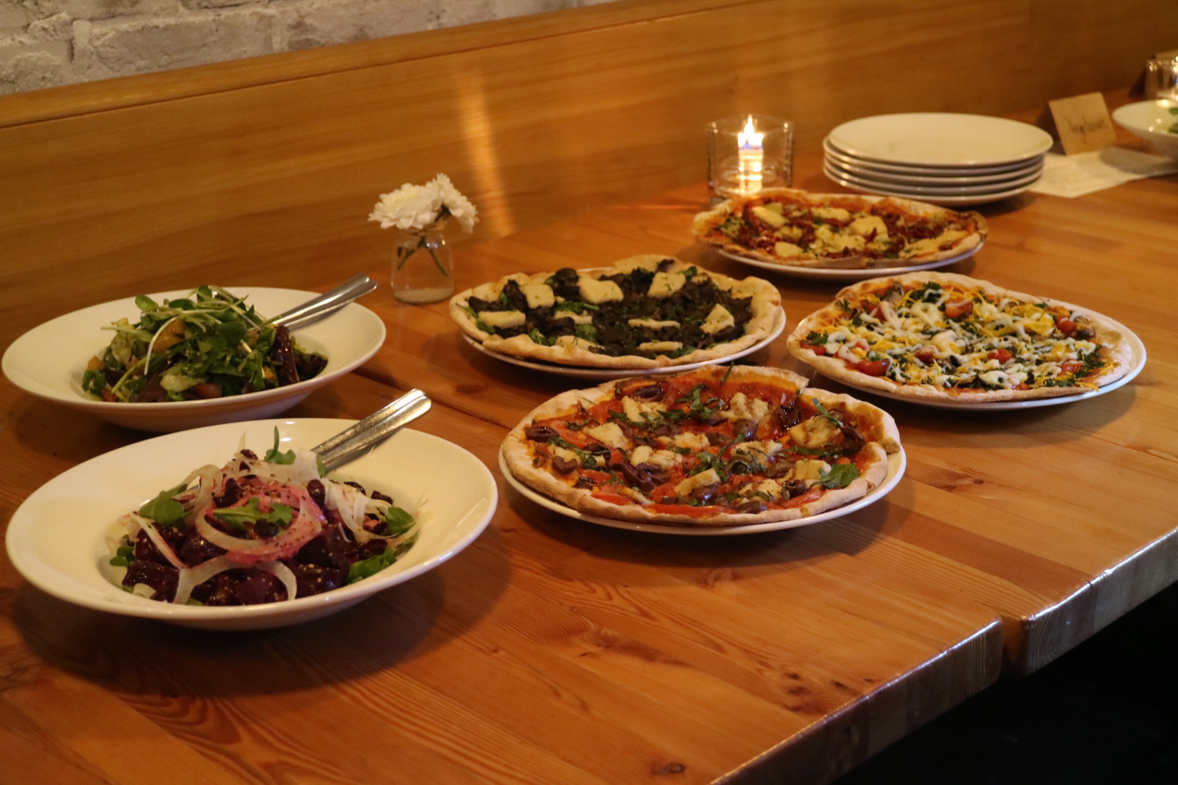 Vegan Salads and PIzzas