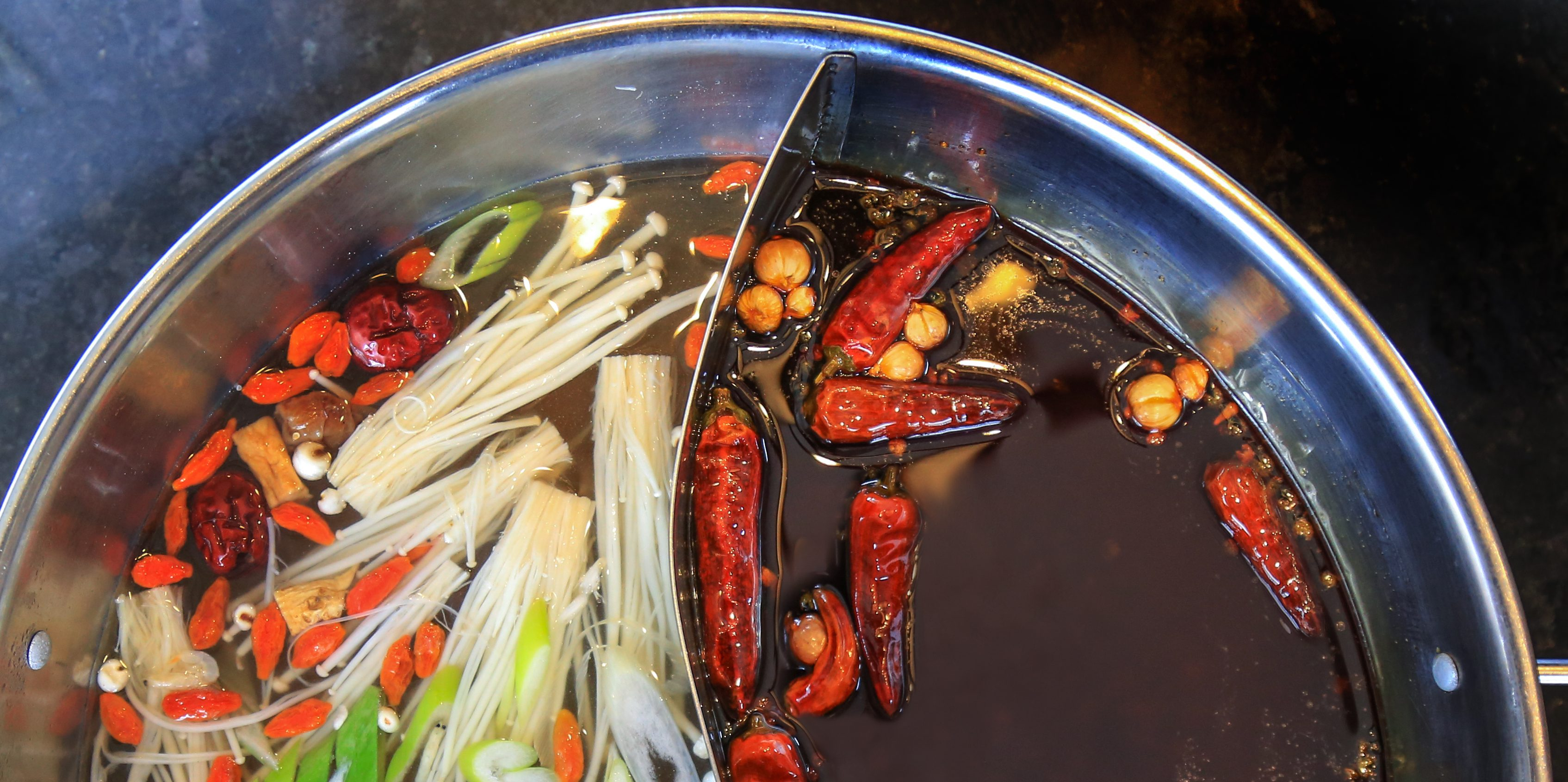 Chinese regional cuisine how to enjoy chongqing style hotpot at hotpot consists of 3 main elements hotpot broth food ingredients and dipping sauce which are the keys to tell the different styles of hotpot in forumfinder Images