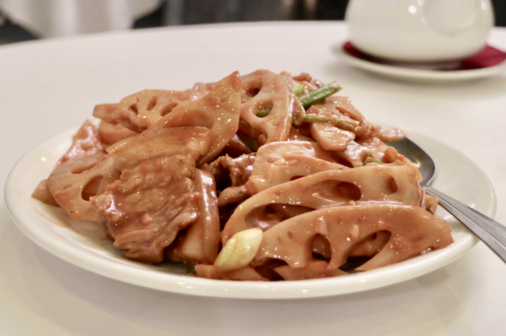 Pork Belly and Lotus Root in aged tofu sauce