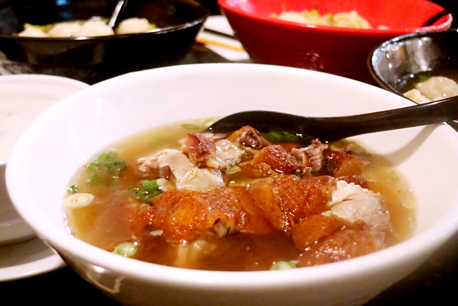 BBQ Duck on Rice Vermicelli Soup