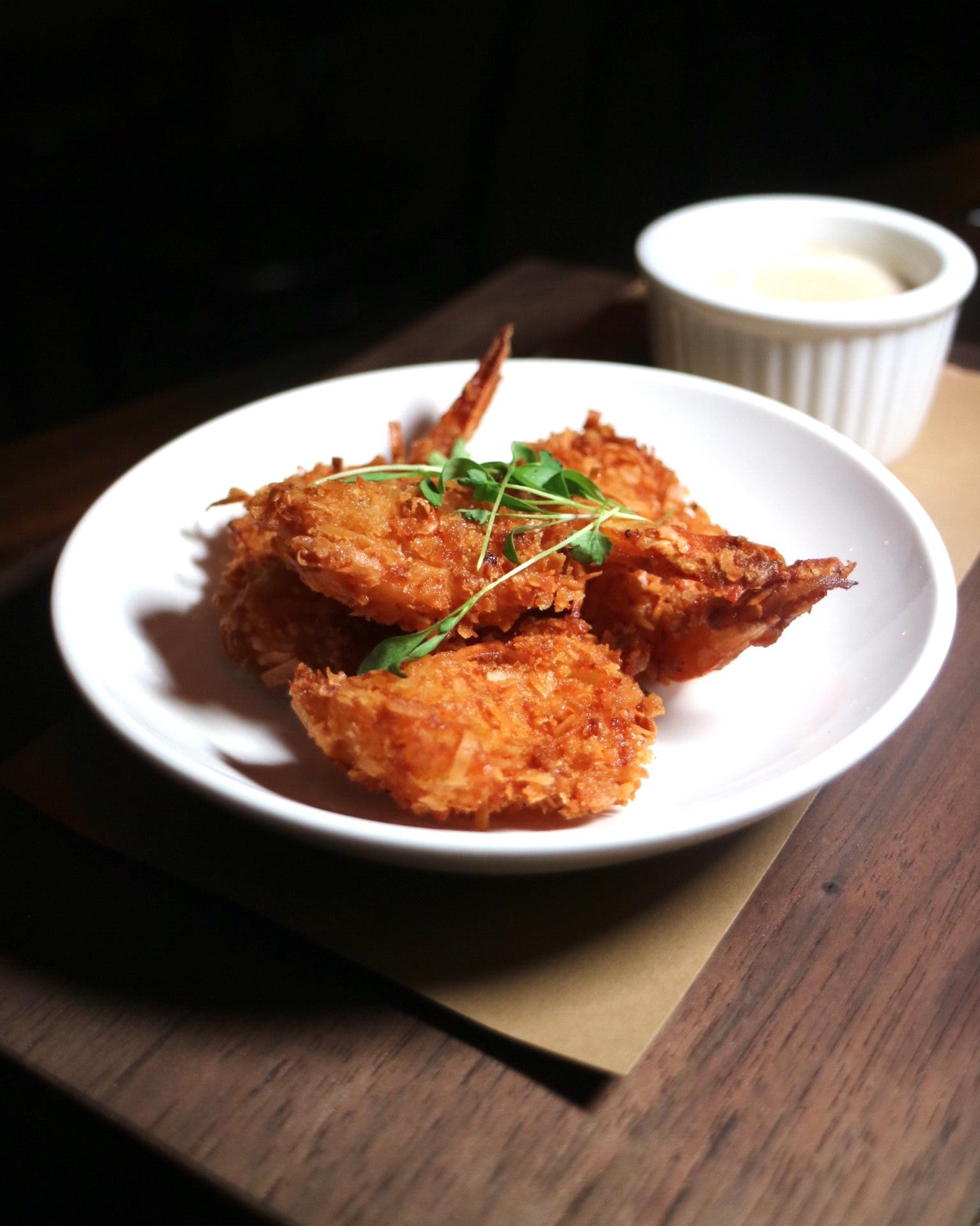 Fried Coconut Prawns