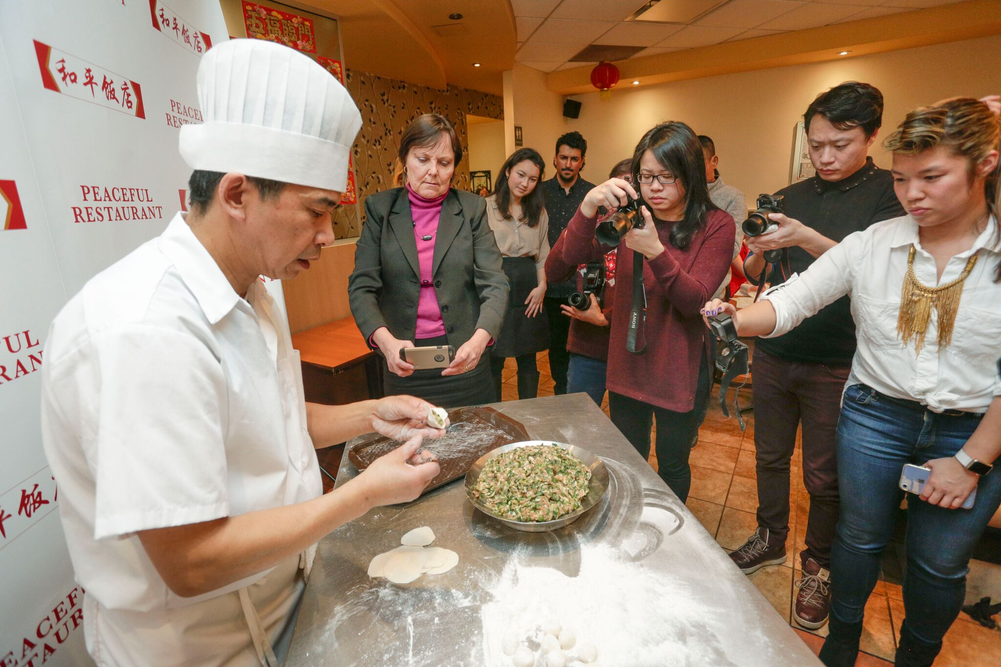 Chinese dumpling making