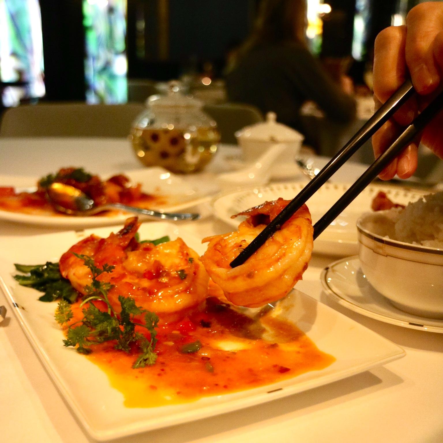Sichuan Chili Prawns