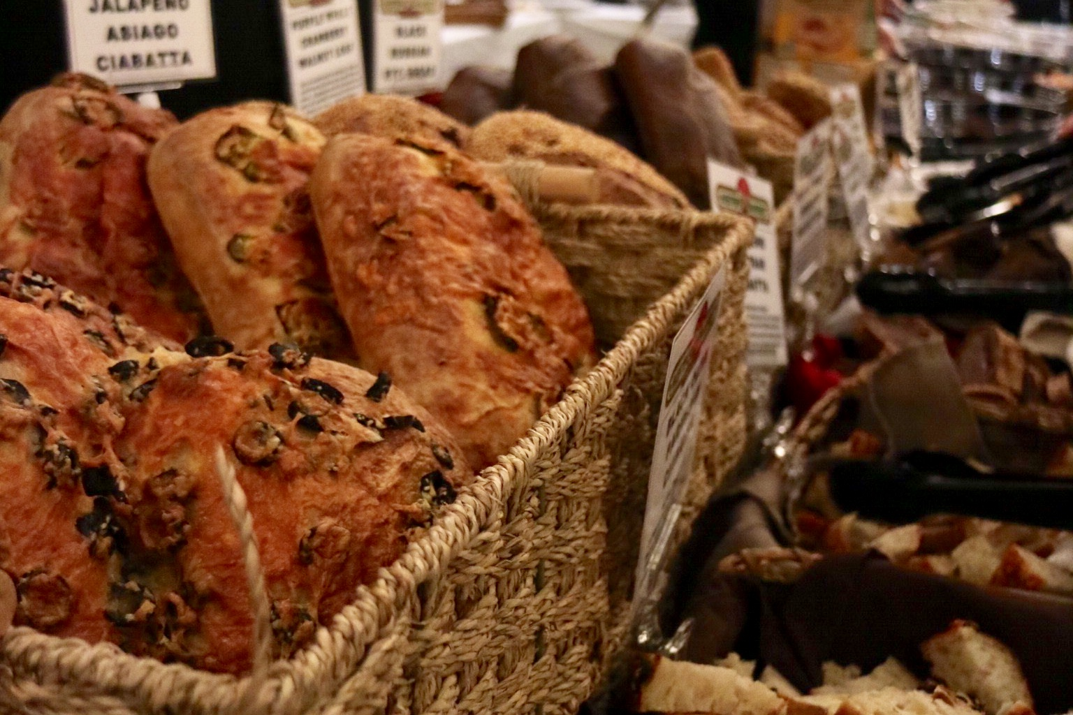 bread and charcuterie from Nesters