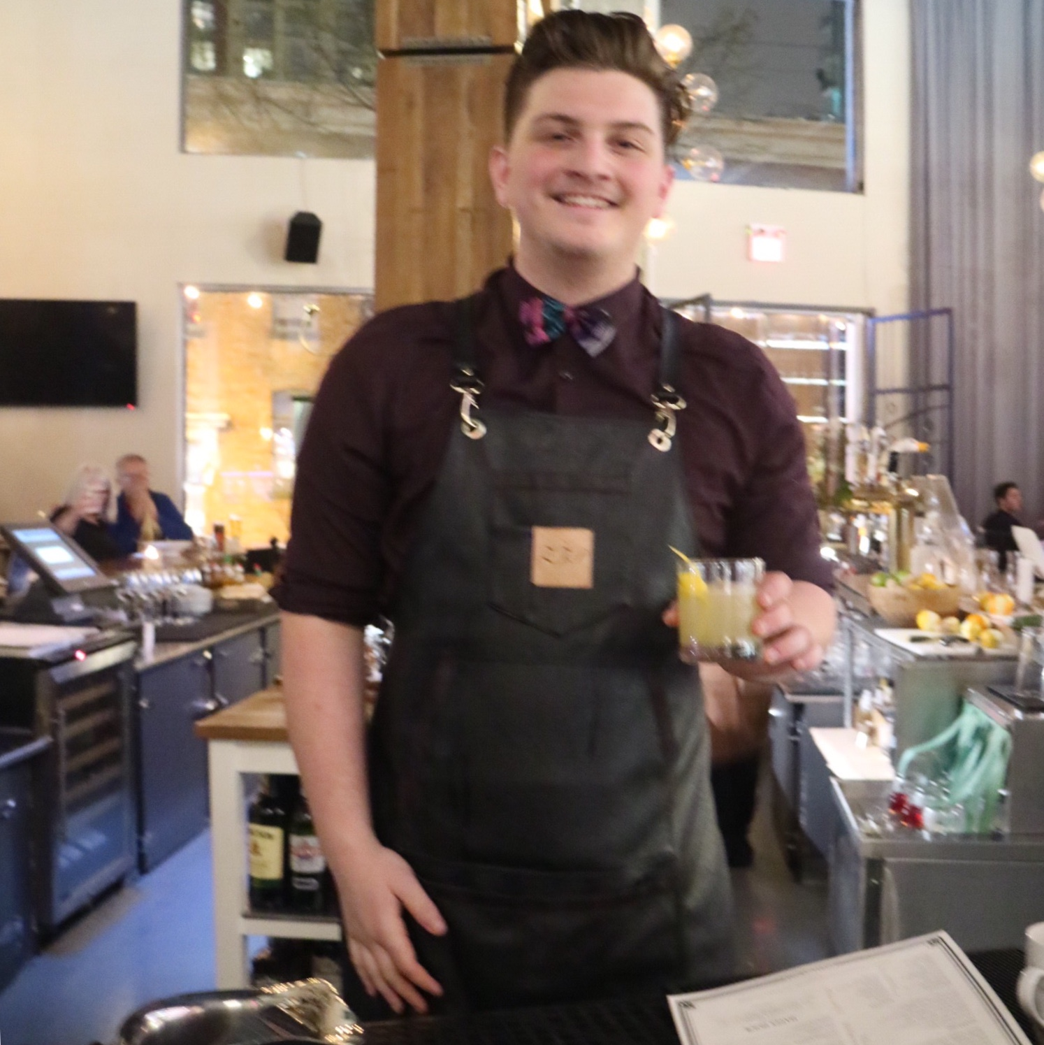 Per Se Social Corner Bar Manager and Mixologist Zach Preston