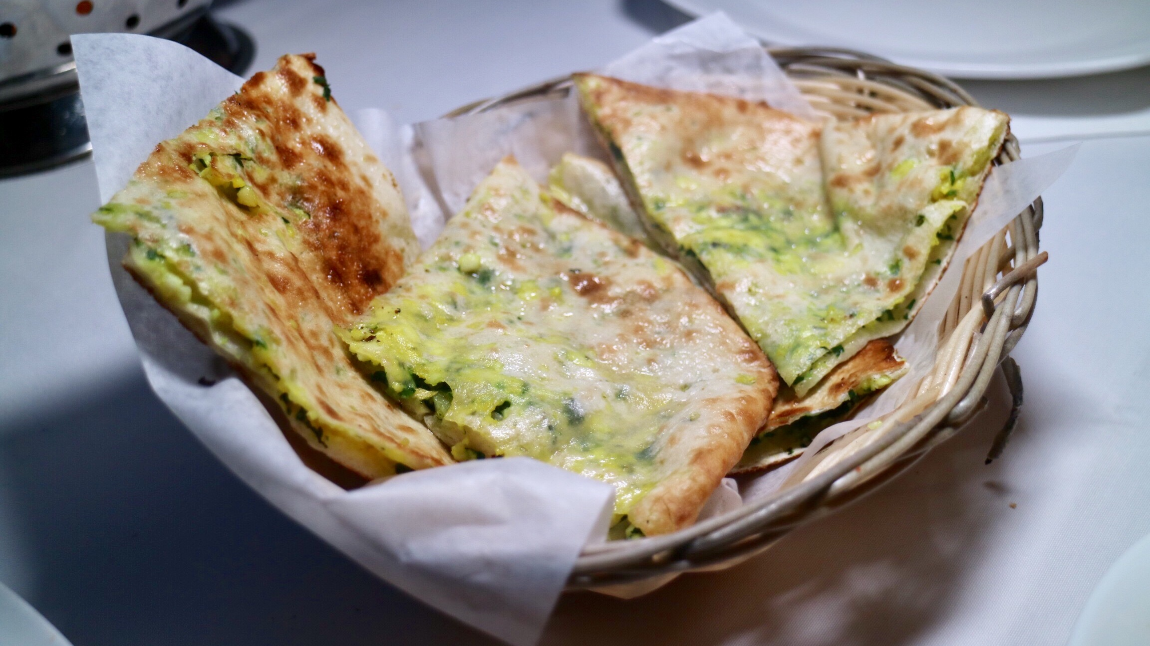 Spinach & Cheese Naan