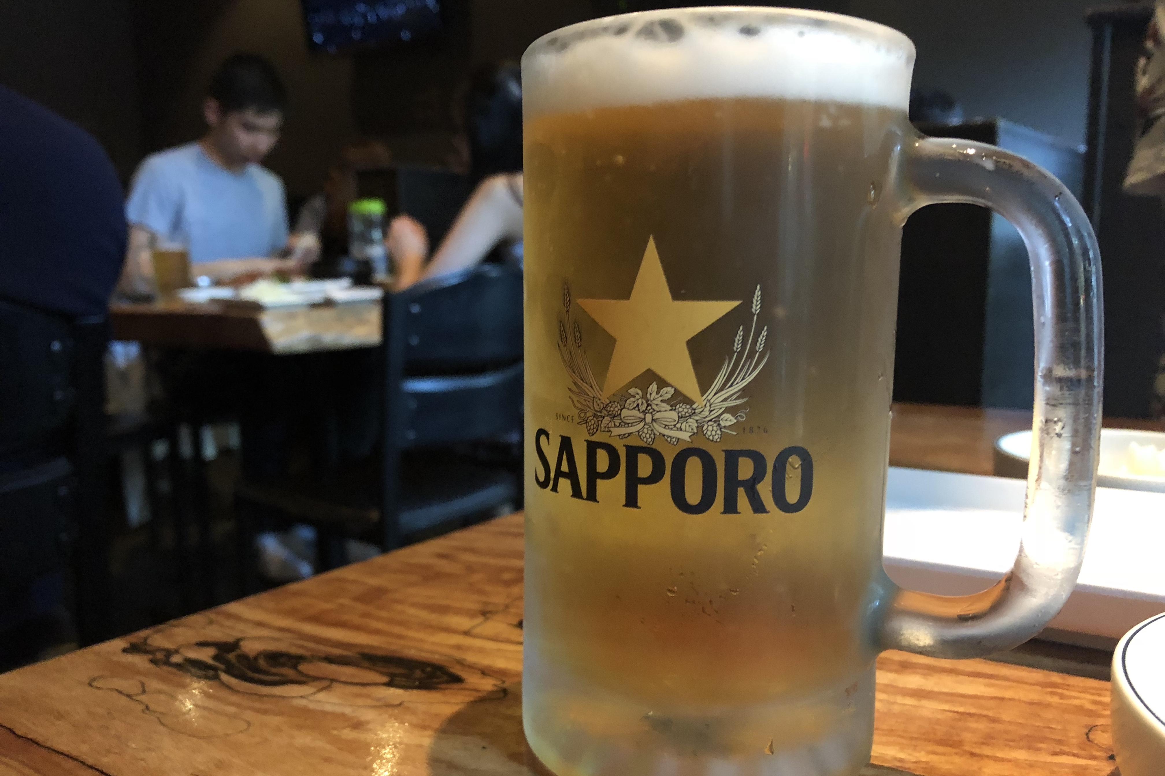 Sapporo Draft @ Zabu Chicken