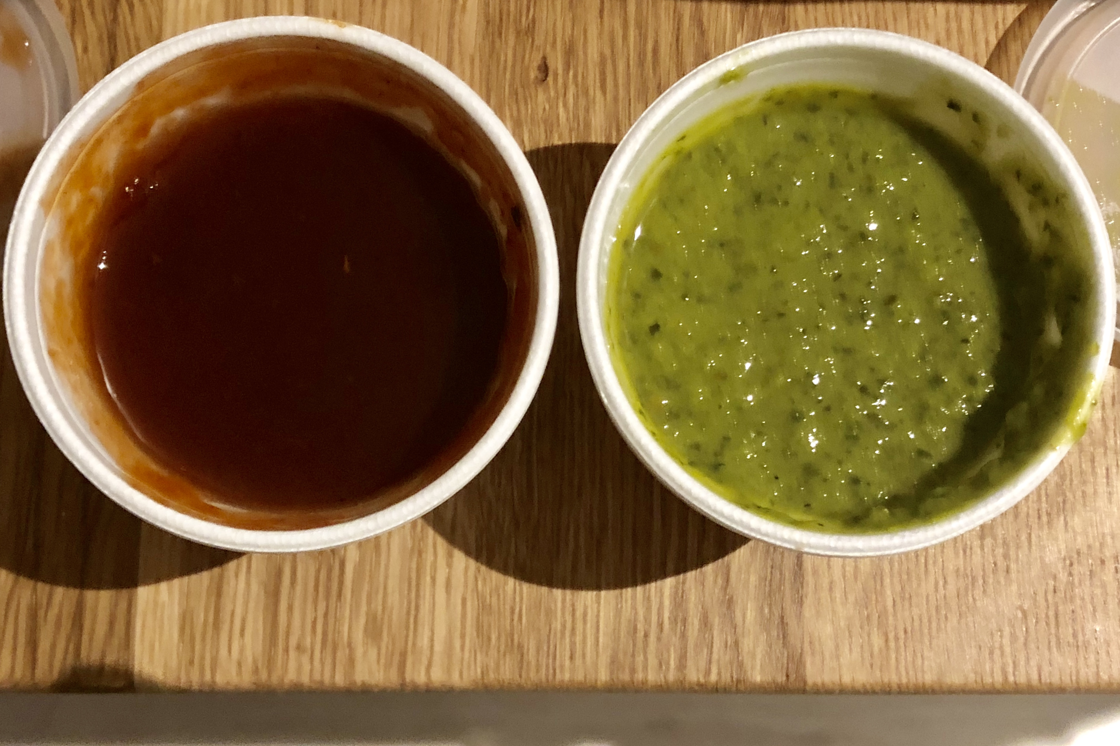 Mint Chutney and Tamarind Sauce