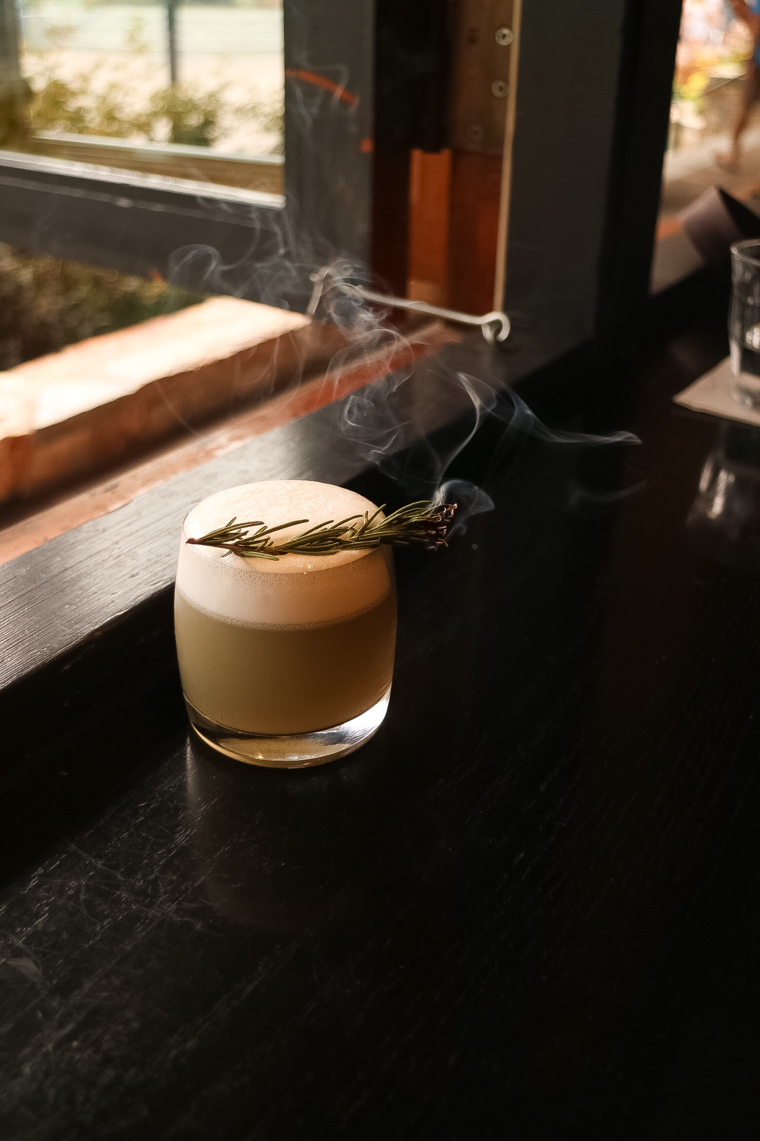 Smoked Rosemary Sour