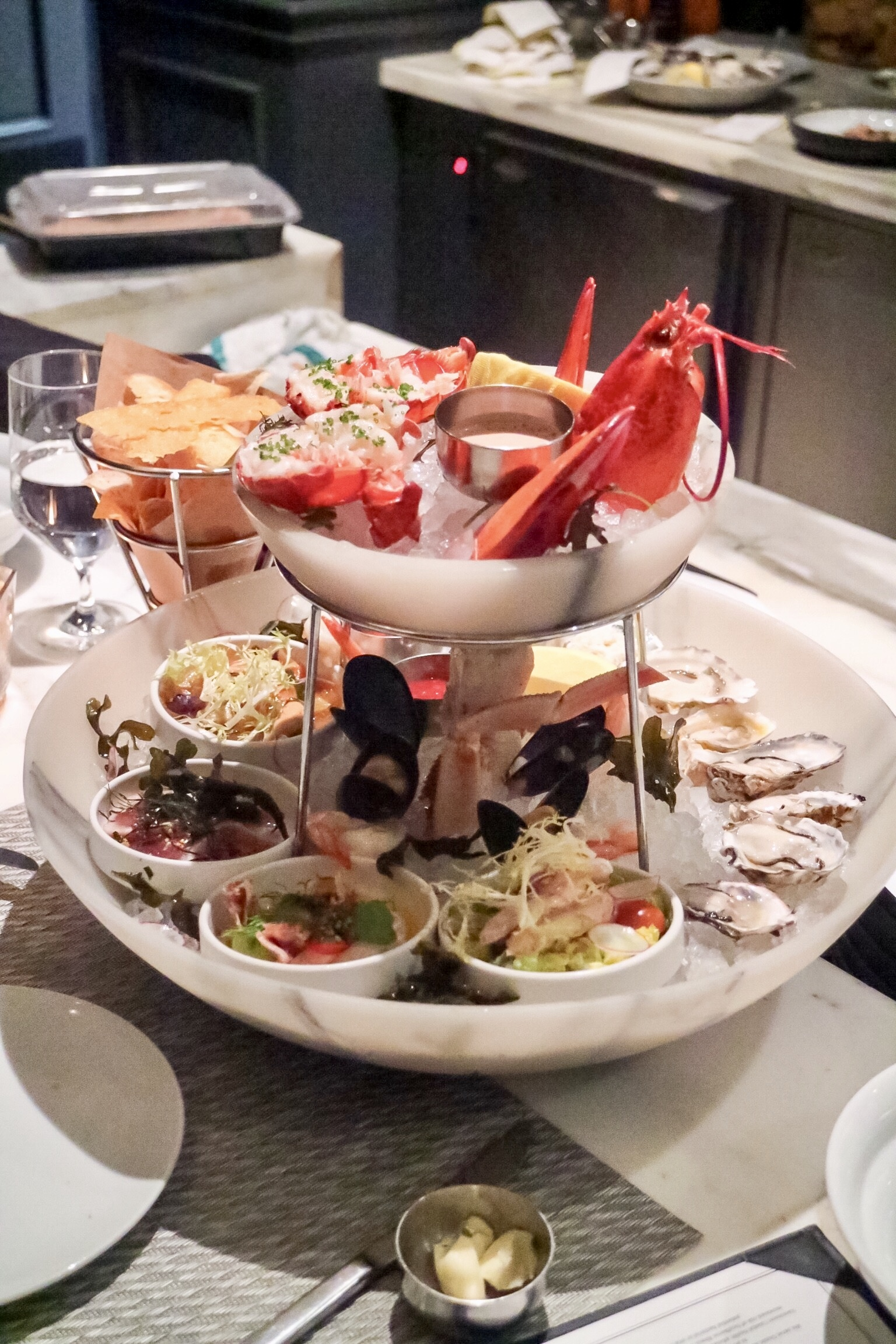 Seafood Tower with Lobster @ Boulevard